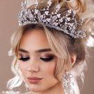 Spiky wedding tiara crown Bling bridal tiara Wedding crown | Etsy