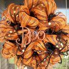 Halloween Mesh Wreaths