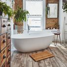 This bathroom sanctuary is a grown up space to relax in