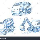 Cute Set Construction Set Vehicles Cars Stock-Vektorgrafik (Lizenzfrei) 365184395