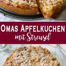 Omas Apfelkuchen mit Streusel (Apfelkrümel)   Rezept   Elle Republic