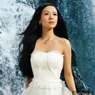 zhang ziyi in white dress  photos