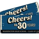 School Reunion Candy Bar Wrappers. 10th, 20th, 30th, any year, Personalized Reunion Favors. Also great for college reunions - Set of 12