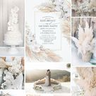 Pampas Grass and White Orchids Wedding Ideas