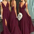 Affordable Bridesmaid Dresses Slit Skirt, Bridesmaid Dress, Wedding Party Dress, Dresses For Wedding, NB0008   10 / Other Color