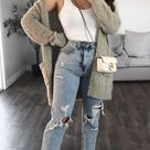 5 Ways to Style High Waisted Distressed Denim Jeans