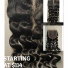 Virgin Remy Deep Curly  Light Brown 4x4  Lace Closure