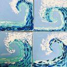 OCEAN WAVE PAINTING ART LESSON Grade K-8