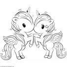 Cute Unicorn 12 Coloring Pages