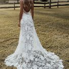 Lace rose wedding dress