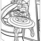 Captain America fun coloring sheet