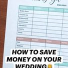HOW TO SAVE MONEY ON YOUR WEDDING👰