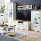 12 Wohnzimmerschrank Pinie Weiß