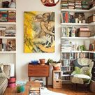 Here, There, and Everywhere Walls of Books in Every Room of the House