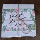 Mothers Day Pre Order Cacti Gift Box. Half Dozen Assorted Succulent. Live cactus gift box arrangement