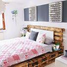 52 DIY Palettenbett Designs - Möbel, Schlafzimmer - ZENIDEEN