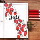 25 Fruit Bullet Journal Spread Ideas - atinydreamer