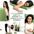 The YokeMat - #1 Eco Acupressure Mat & Pillow Bundle (Forest Green)