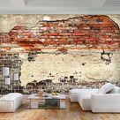 VLIES FOTOTAPETE Stein TAPETEN Mauer Zigel TAPETE Wandbilder xxl Wohnzimmer 3Far  | eBay