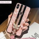 Luxury Mirror, Inlaid Butterfly iPhone Cases For iPhone X XR XS MAX 11 Pro Max - For iPhone 6(S) / Case Strap A1