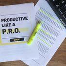 Productive Like A P.R.O. [Ebook]