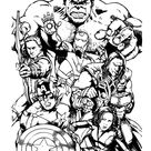 The Avengers Team Assemble Coloring Page - Download & Print Online Coloring Pages for Free
