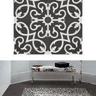 Fliese Patchwork Dekor Zementoptik schwarz weiß 20x20cm