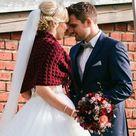 Rustic Wedding Shawls and Wraps Marsala Bridal Cape Fall | Etsy