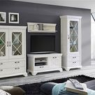 Wohnzimmerschrank Pinie Weiß
