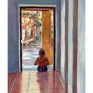 Giclee Painting: Willis' Through the Doorway, 2005, 24x16in.