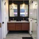 FREE SHIPPING ~ NEW Hand Built Mid Century Style Floating Bathroom Vanity - Custom Width Sizing Available!