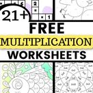 Fun and Free Multiplication Worksheet Printables   Grades 3 5