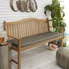 Highland Dunes Outdoor Sunbrella Seat Cushion, Quick - Dry Foam/Sunbrella® in Beige, Size 2