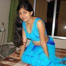 Hot Desi Aunty in Blue Saree