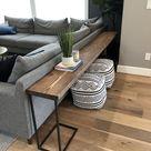 DIY Sofa Table   Brooklyn Nicole Homes homedecor