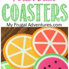 Citrus Perler Bead Coasters Fun Children's Craft   My Frugal Adventures