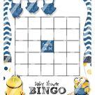 Minion Baby Shower Bingo Template | Etsy