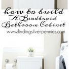 Beadboard Bathroom Cabinet (Build Plans) - Finding Silver Pennies