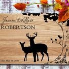 deer family cutting board pair personalized cutting board wedding cutting board engraved cutting boa