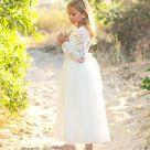Long sleeve flower girl dress Bohemian Boho Flower girl   Etsy