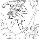 Luke and Yoda coloring page