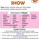 Synonyms Of Show, Show Synonyms Words List, Meaning and Example Sentences - English Grammar Here