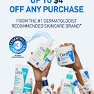 Save up to $4 on any CeraVe product