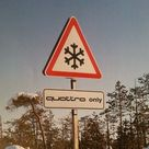 quattro only sign