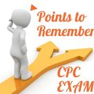 Points to remember for Clearing CPC exam in 2019