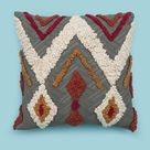 Handmade Bohemian Tufted Cotton 18 X 18 Pillow Cover Christmas Decorative Cushion Throw Sofa Pillow