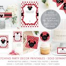 Red Minnie Mouse Invitation, Drive By Birthday Parade, Black and Red Polka Dots, Oh Toodles, Oh Two-dles, DIY Editable PDF Template