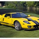 1000 Piece Puzzle. Ford Ford GT , 2005, Yellow, black stripes