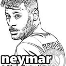 Neymar coloring page
