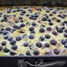 Einfacher Blechkuchen mit Schmand und Blaubeeren - Kochen aus Liebe